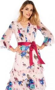 Sukienka L'AF z długim rękawem z szyfonu