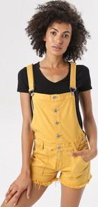 Żółte szorty born2be w stylu casual
