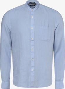 Niebieska koszula Marc O'Polo z długim rękawem z lnu
