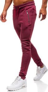 Czerwone spodnie sportowe Denley w sportowym stylu