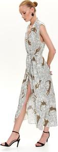 Sukienka Top Secret z kołnierzykiem bez rękawów w stylu casual