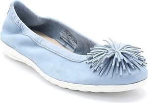 Caprice 9-22116-20 niebieskie - balerinki
