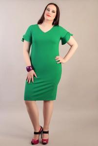 Sukienka Oscar Fashion midi z krótkim rękawem
