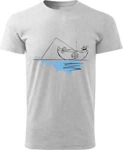 T-shirt Haj Montajn w młodzieżowym stylu