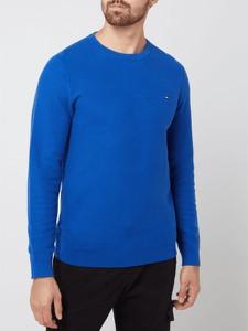 Niebieski sweter Tommy Hilfiger w stylu casual z bawełny