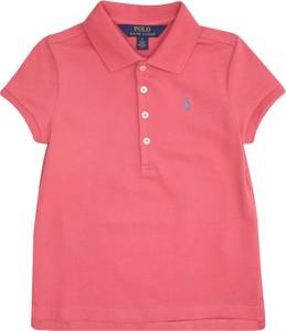 Różowa koszulka dziecięca POLO RALPH LAUREN z dżerseju z krótkim rękawem