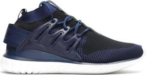 Brązowe buty sportowe Adidas tubular z nubuku