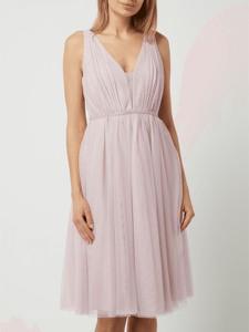 Różowa sukienka Jake*s Cocktail bez rękawów z dekoltem w kształcie litery v