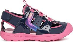 Buty dziecięce letnie Geox dla dziewczynek na rzepy ze skóry
