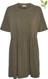 Zielona sukienka Noisy May z bawełny
