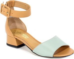 Sandały Euro Moda na obcasie na średnim obcasie