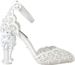 Czółenka Dolce & Gabbana ze skóry na wysokim obcasie