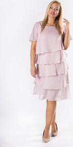 Różowa sukienka La Toya z tiulu