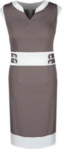Sukienka Fokus z dekoltem w kształcie litery v bez rękawów ołówkowa