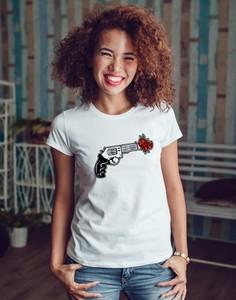 T-shirt Time For Fashion z okrągłym dekoltem w stylu casual