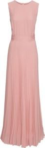 Różowa sukienka bonprix BODYFLIRT boutique maxi z okrągłym dekoltem