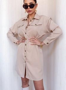Sukienka SELFIEROOM w stylu casual koszulowa mini