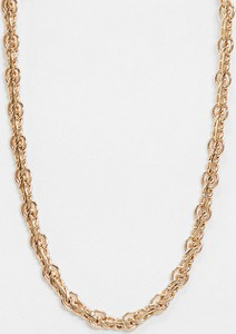 Reclaimed Vintage Inspired – Naszyjnik ze skręcanym łańcuszkiem w kolorze złota-Złoty