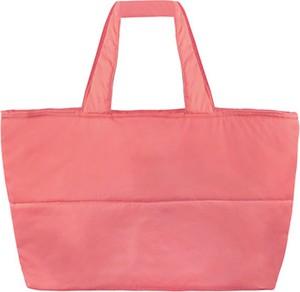 Różowa torebka Byinsomnia w stylu casual duża matowa