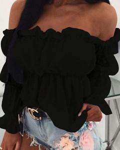 Czarna bluzka Kendallme z długim rękawem
