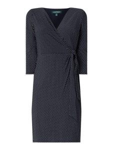 Czarna sukienka Ralph Lauren mini z dekoltem w kształcie litery v