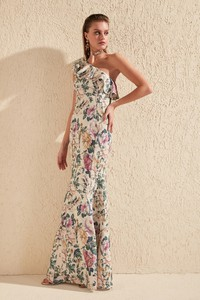 Sukienka Trendyol asymetryczna w stylu boho maxi