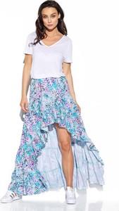 długa spódnica z falbanami stylowo i modnie z Allani