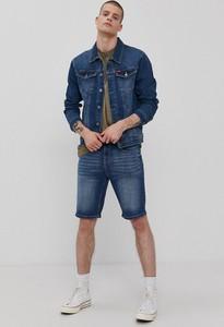 Niebieska kurtka Lee Cooper krótka z jeansu