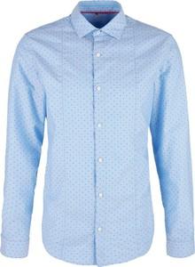 Niebieska koszula S.Oliver z włoskim kołnierzykiem