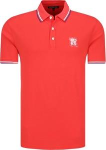 Czerwona koszulka polo Michael Kors z krótkim rękawem w stylu casual