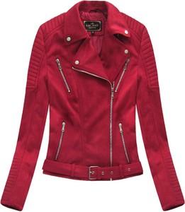 47f83c11beeb8 Czerwona kurtka Libland w rockowym stylu ze skóry ekologicznej