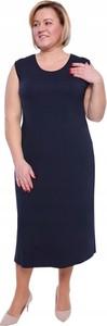 Sukienka Inna bez rękawów z dekoltem w kształcie litery v prosta