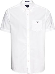 Koszula Gant z bawełny z krótkim rękawem z kołnierzykiem button down