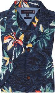 Koszula Tommy Hilfiger z lnu z krótkim rękawem