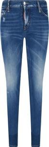 Niebieskie jeansy Dsquared2 w street stylu