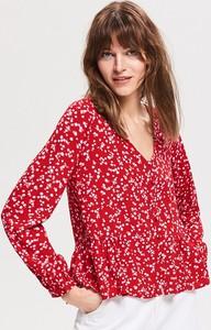 Bluzka Reserved w stylu boho z dekoltem w kształcie litery v z długim rękawem