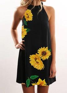Sukienka Arilook bez rękawów z okrągłym dekoltem