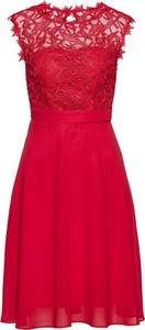 Czerwona sukienka bonprix bpc selection premium