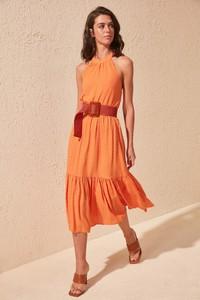 Pomarańczowa sukienka Trendyol midi