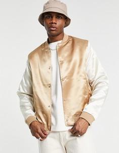 Złota kurtka Asos krótka w stylu casual