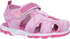 Różowe buty dziecięce letnie Casu na rzepy