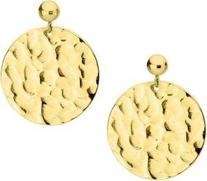 Manoki KA152G kolczyki medaliony pozłacane