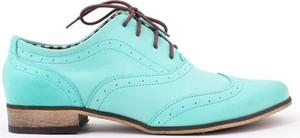 Zapato jazzówki - skóra naturalna - model 246 - kolor miętowy