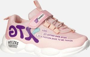 Różowe buty sportowe dziecięce Casu