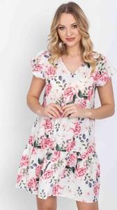 Sukienka Royalfashion.pl w stylu casual z dekoltem w kształcie litery v