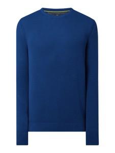 Granatowy sweter Lerros z bawełny w stylu casual