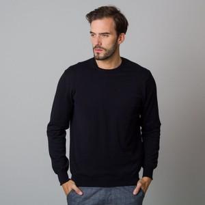 Czarny sweter Willsoor w stylu casual z okrągłym dekoltem z dzianiny