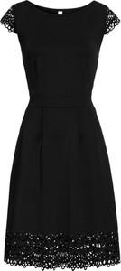 Czarna sukienka bonprix bodyflirt boutique na co dzień trapezowa