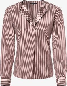 Czerwona bluzka Marc O'Polo z bawełny z długim rękawem z dekoltem w kształcie litery v