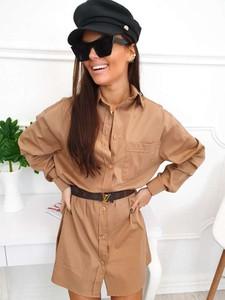 Koszula Magneticsklep z bawełny w stylu casual z długim rękawem